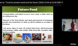 "Department of Chemistry, GSSSIETW, Mysuru had organized a Webinar on ""FOOD FOR PRESENT WORLD AND THE FUTURE  by Dr. S. G Prapulla, Retired Chief Scientist (Rtd.), Department of Microbiology and Fermentation Technology, CFTRI, Mysuru on October 5th 2020"