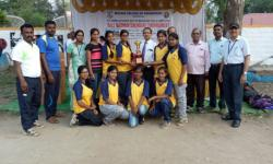 VTU Interzone Ball Badminton Tournament was held at MCE Hassan from 17th to 18th April 2018